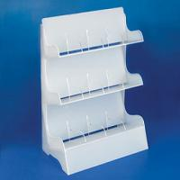 Buy cheap 3 Layer White Acrylic Jewelry Display Case Holder 30 * 60cm product