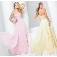 Buy cheap Floor Length Strapless Chiffon Womens Prom Dresses with Sweetheart Neckline from wholesalers