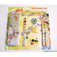 Buy cheap School supplies wholesale kids stationery set packed in paper gift box,gift stationery set from wholesalers