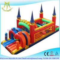 Buy cheap Hansel new outdoor inflatable obstacle course equipment for kids paly or rental from wholesalers