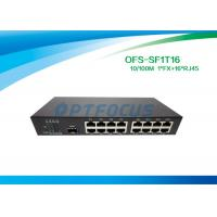 Buy cheap Single 10gb Fiber Optic Switch 1 Port SFP Slot 100BASE - Fx 16Port 10 / 100BASE - Tx from wholesalers