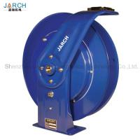 Buy cheap Metal Retractable Hose Reel Multi Positional Guide Arm Facilitates Ceiling / Wall / Floor Mount from wholesalers