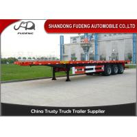 Buy cheap 3 axles 20ft 40ft platform flatbed semi trailer shipping container trailers for sale from wholesalers