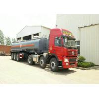 Buy cheap 3 Axles Spring Suspension Chemical Tanker Truck For 33CBM Sodium Hypochlorite NaOCl from wholesalers