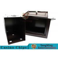 Luxury Double Lock Cash Holder Box , High Precision Security Casino Cash Box
