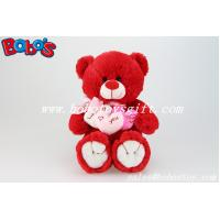 Buy cheap Personalized Gifts Red Lovely Teddy Bears With 3 Hearts for Valentines Day from wholesalers