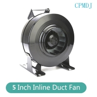Buy cheap Passive Intake 224CFM 125mm Centrifugal  Exhaust 5 Inch Inline Duct Fan product