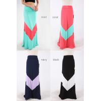 Buy cheap Maxi Style Pastel Colored Chevron Girls Skirts Polyester And Spandex Dresses product