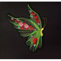 Buy cheap Heat Press Custom Butterfly 3D Embroidery Patch  Embroidery Badge Applique For Clothing from wholesalers
