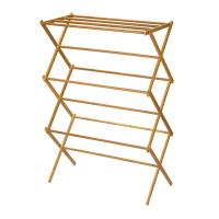 Buy cheap Portable Wooden Laundry Drying Rack , Bamboo Clothes Rack Earth Friendly from wholesalers