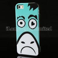 China 2013 fashion and new Plastic Case For iPhone 5 with Anti-shock Cartoon Animal Face Print desgin on sale