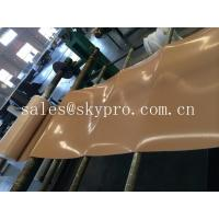 Buy cheap Natural gum rubber sheet roll tan color high tensile strength for punching seals / washer from wholesalers