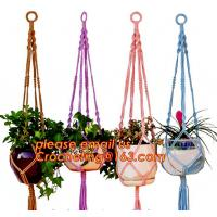 Buy cheap COTTON ROPE BRAIDED FLOWER POTS HOLDER, DECORATIVE MACRAME PLANT HANGERS, HOUSEHOLD ARTICLES from wholesalers