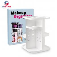 Buy cheap 360 rotating glam caddy spinning makeup organizer stand cosmetic store storage display shelf from wholesalers