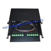 Buy cheap 19 Fiber Optic Patch Panel , SC/APC 24 Port Network Patch Panel from wholesalers