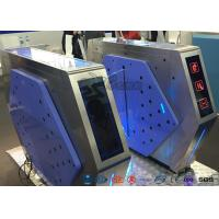 Buy cheap Access Control Automatic Flap Barrier Gate Walk Through Optical Turnstile product