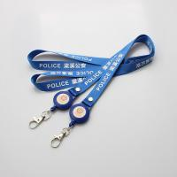 Buy cheap Retractable id badge holder lanyards Corporate gifts and promotion Retractable Printed Key Flexible badge lanyard from wholesalers