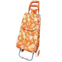 Buy cheap Flower Print 600D Oxford Cloth Trolley Shopping Cart Best Quality BHT-005-2 from wholesalers