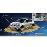 360 Degrees Around View Camera System Recording With Parking Trajectory Line,