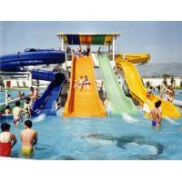 Buy cheap Swimming Pool Fiber Glass Water Slides , Water Park Slide With 60m Length from wholesalers