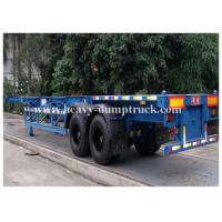 Buy cheap 3 axles 50 tons ABS Braking system low flatbed semi trailer for machine transport from wholesalers