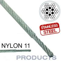 Buy cheap Clear Coated Nylon 11 Stainless Steel Metal Wire Rope 7x7 For Sailboat Lifeline from wholesalers