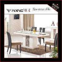 Buy cheap Modern Marble Top Carved Dining Table (D1113#) from wholesalers