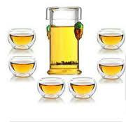 Buy cheap double wall glass cup glass teaset from wholesalers