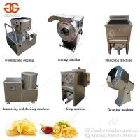 Buy cheap Semi-Automatic Potato Chips Cutting Blanching Frying Production Line Small Scale French Fries Making Machine from wholesalers