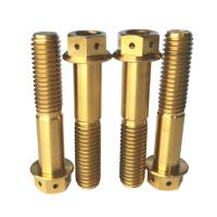 Buy cheap M8X40 Gold MTB Bike Titanium Bolts Screw Allen Hex Hole Flange Head Gr5 Tc4 from wholesalers