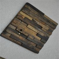 Buy cheap Boat Wood Mosaic Wall Panels , 3D Ceiling Tiles For Hotel Decoration from wholesalers