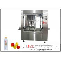 Buy cheap Press Push On Automatic Bottle Capping Machine 8 Heads For Edible Oil / Talcum Powder from wholesalers