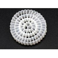 Buy cheap Virgin HDPE Material MBBR Bio Media White Color And 25*4mm Size High Surface Area MBBR product
