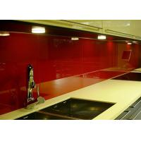 Buy cheap Red Painted Glass Backsplash Toughened Custom Pattern Heat Resistance from wholesalers