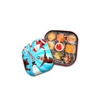 Buy cheap Colorful Candy Tin Containers With Small Dimension And Xmas Style , 0.23mm from wholesalers