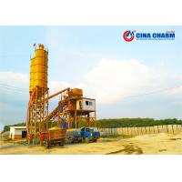 China Factory selling low cost hzs 35 50 60 75 90 concrete batching plant with twin shaft concrete mixer on sale