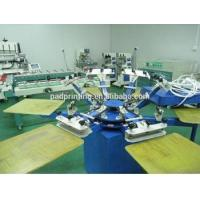 Buy cheap Hot sale 4/6/8/12 colors manual silk screen printing machine for Tshirt with 40*50cm 50*60cm worktable from wholesalers