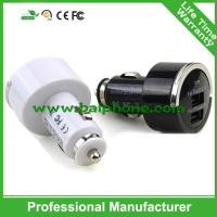 Buy cheap Car charger for iPad for iPhone black and white pull tab dual usb car charger from wholesalers