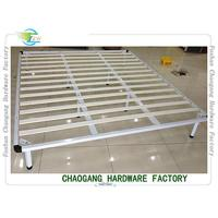 Buy cheap White Colour Lacquerred Metal Base Bed Frame For Queen Size Mattress from wholesalers