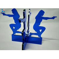 Buy cheap Blue Acrylic Shapes Craft / Acrylic Stand For Office Decoration Gifts product