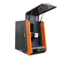 Buy cheap Closed Type 20W 110*1100mm Fiber Laser Marking Machine for Metal from wholesalers