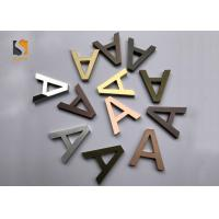 Buy cheap Small 3D Shop Sign / Decorative Metal Letters With Finishing Gold , Bronze , Silvery from wholesalers