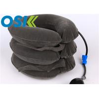 Buy cheap Adjustable Cervical Support Brace Sofe Inflatable Flannel / Rubber Material from wholesalers