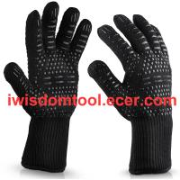 Buy cheap Customized Aramid Fiber Barbecue Oven Glove 932F 500 Degree Extreme Heat Resistant Grill BBQ Gloves from wholesalers