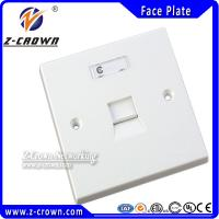 Buy cheap Network Wall Face Plate RJ45 Face Plate Single Gang from wholesalers