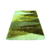 Buy cheap Green Polyester Patterned Shaggy Rugs, Washable Anti-slip Fluffy Rug Customized from wholesalers