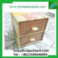 Buy cheap Custom Recyclable  Sliding Double Drawer Handmade Jewelry Packaging Paper Box Paperboard Gift Box with Ribbon Handle from wholesalers