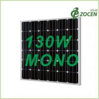 Buy cheap Black Iridescent Blue 130W Monocrystalline Solar Panels with 0 - 3% Positive Output from wholesalers