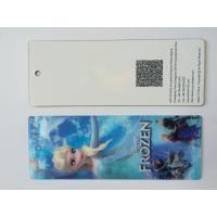 Buy cheap 3D Hologram Frozen 3D Lenticular Custom Plastic Bookmarks With Tassel For 0.6 mm PET Thickness from wholesalers