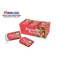 Buy cheap Sugar Free Sour Strawberry Candy With Slide Tin Box Tooth Friendly from wholesalers